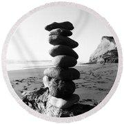 Rocks In Balance Round Beach Towel