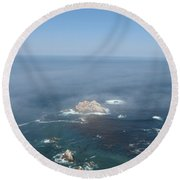 Rocks In The Water Round Beach Towel
