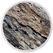 Rocks Texture Round Beach Towel