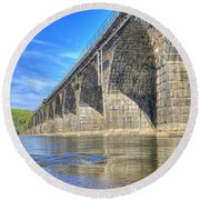 Rockville Bridge Round Beach Towel
