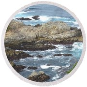 Rocky Cove Detail Round Beach Towel