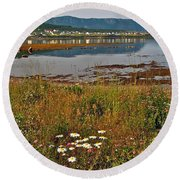 Rocky Harbour-nl Round Beach Towel