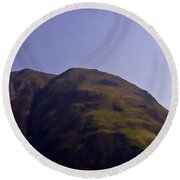 Rocky Hill In The Scottish Highlands Round Beach Towel
