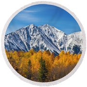 Rocky Mountain Autumn High Round Beach Towel by James BO  Insogna