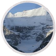 Rocky Mountain Blue Round Beach Towel