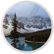 Rocky Mountain Escape Round Beach Towel