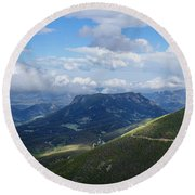 Rocky Mountain National Park Round Beach Towel