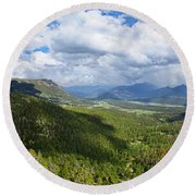 Rocky Mountain National Park Panorama Round Beach Towel