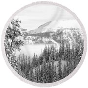 Rocky Mountain Vista Round Beach Towel