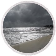 Rocky Neck Beach Round Beach Towel