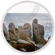 Rocky Seascape Round Beach Towel