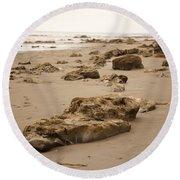 Rocky Shore 2 Round Beach Towel