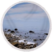 Rocky Shores Round Beach Towel