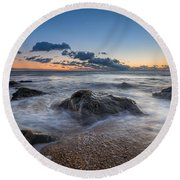 Rocky Sunrise Round Beach Towel