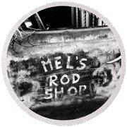 Rod Shop Truck Round Beach Towel