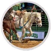 Rodeo Action Round Beach Towel
