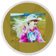 Rodeo Beauty Two Round Beach Towel