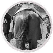 Rodeo Bums Round Beach Towel