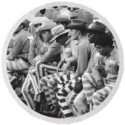 Rodeo Cowboy Prisoners Round Beach Towel