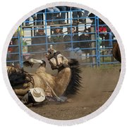 Rodeo Crunch Time Round Beach Towel