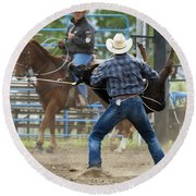 Rodeo Easy Does It Round Beach Towel