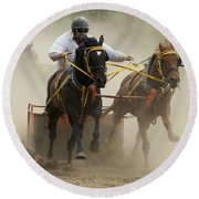Rodeo Eat My Dust 1 Round Beach Towel