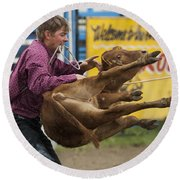 Rodeo Fit To Be Tied Round Beach Towel