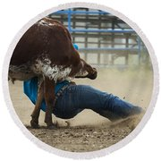 Rodeo Getting Down Round Beach Towel