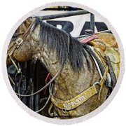 Rodeo Horse Two Round Beach Towel
