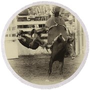 Rodeo Learning To Fly Round Beach Towel