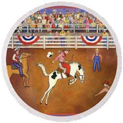 Rodeo One Round Beach Towel