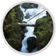 Rogue River Falls 1 Round Beach Towel