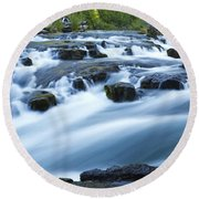 Rogue River Falls 9 Round Beach Towel