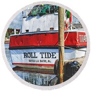 Roll Tide Stern Round Beach Towel