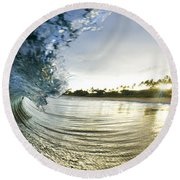 Rolled Gold Round Beach Towel by Sean Davey