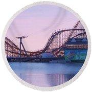 Roller Coaster Round Beach Towel