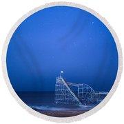 Roller Coaster Stars Round Beach Towel