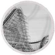 Roller Coaster Wildwood Round Beach Towel