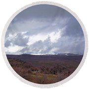 Rolling Clouds- Rolling Hills Round Beach Towel