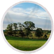 Rolling Hills Near Marriot Ranch Round Beach Towel