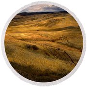 Rolling Hills Round Beach Towel by Robert Bales