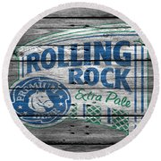 Rolling Rock Round Beach Towel