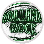 Rolling Rock Lager Round Beach Towel