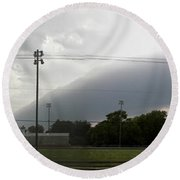 Rolling Storm Round Beach Towel