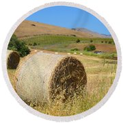 Roll'n The Hay Round Beach Towel
