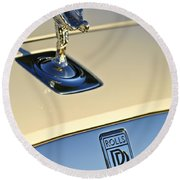 Rolls-royce Hood Ornament 3 Round Beach Towel