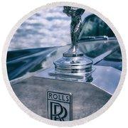 Rolls Royce Mascot Round Beach Towel