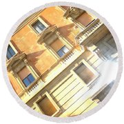 Roma Windows Round Beach Towel