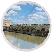 Roman Bridge Of Cordoba Round Beach Towel