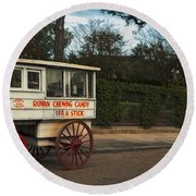 Roman Candy Wagon New Orleans Round Beach Towel